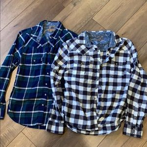 Button up flannels set of 2 size small
